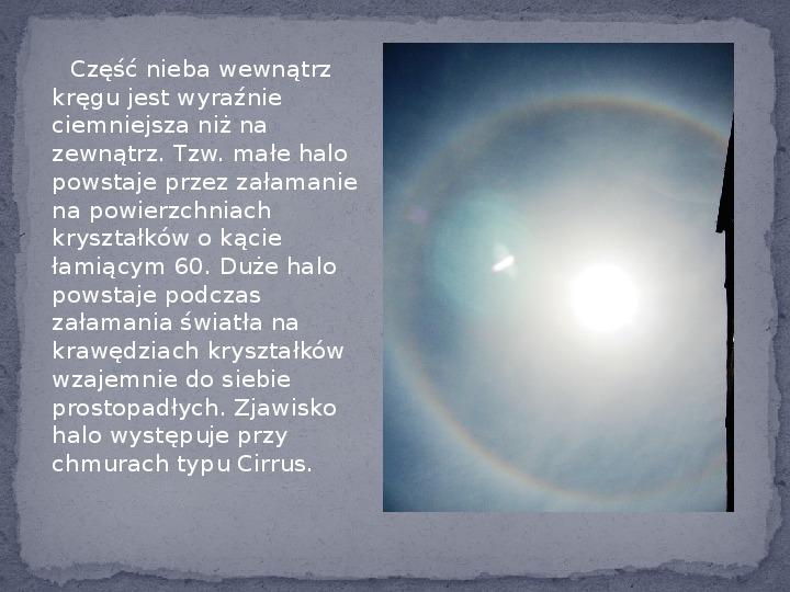 Zjawiska optyczne w przyrodzie - Slajd 14