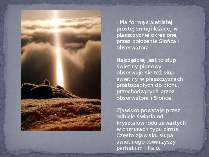 Zjawiska optyczne w przyrodzie - Slajd 25