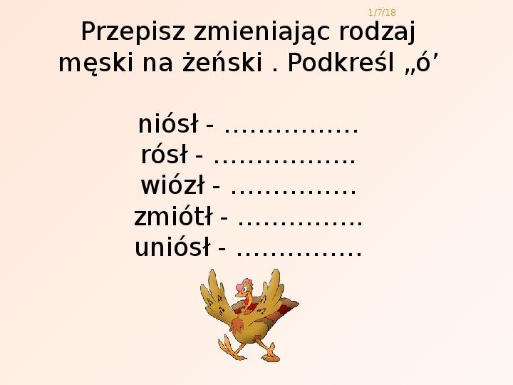 Zasady pisowni - Slajd 14