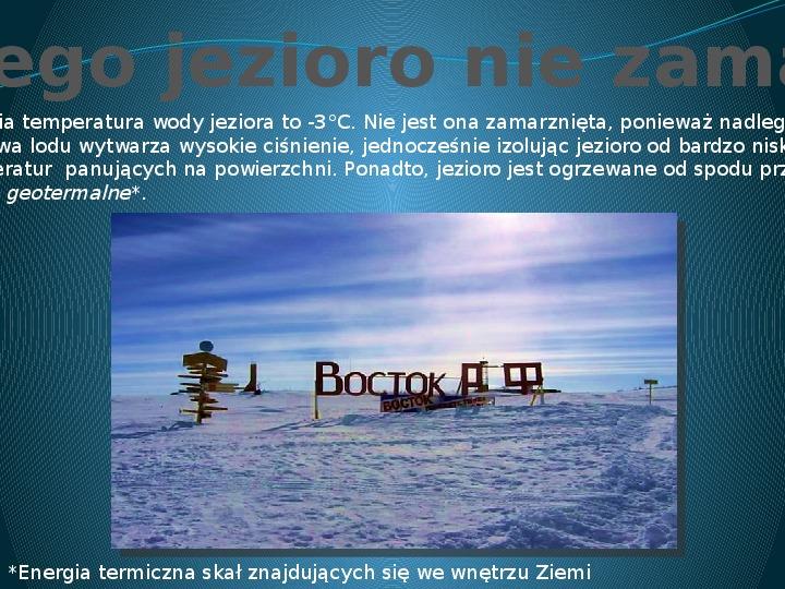 Jezioro Wostok - Slajd 4