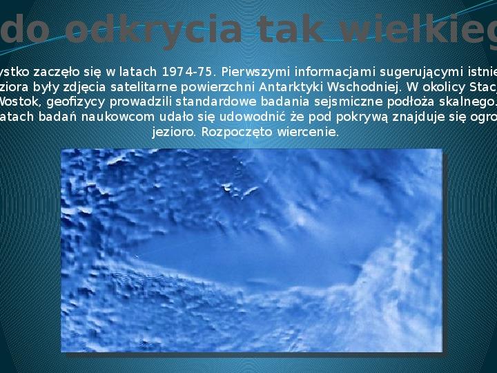 Jezioro Wostok - Slajd 5