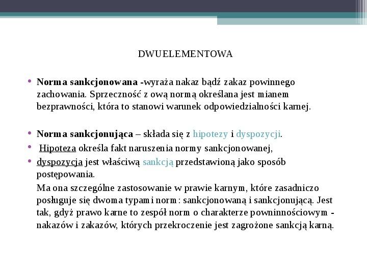 Prawo - definicja,funkcje, norma - Slajd 8