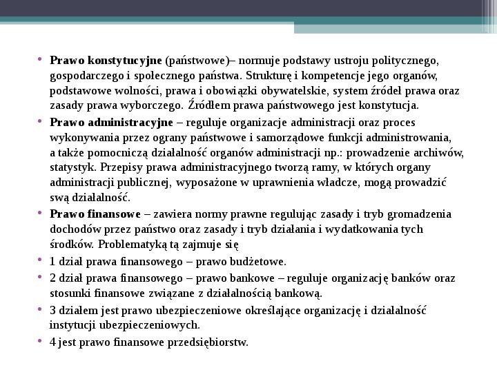 Prawo - definicja,funkcje, norma - Slajd 12