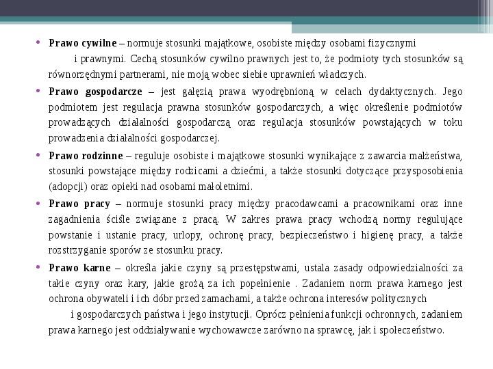 Prawo - definicja,funkcje, norma - Slajd 13
