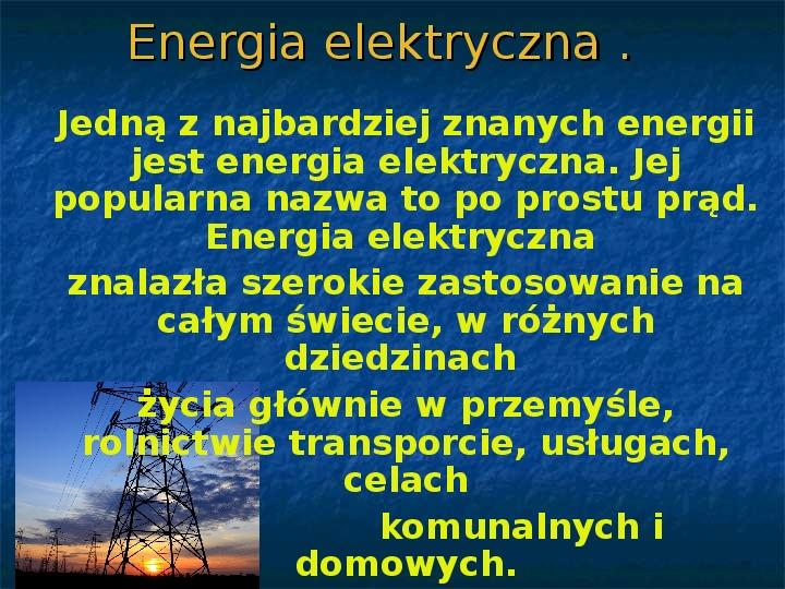 Rodzaje energii - Slajd 1