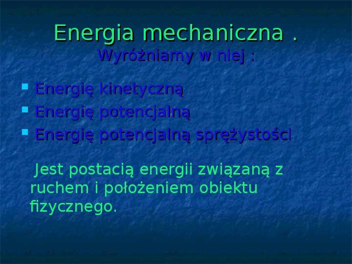 Rodzaje energii - Slajd 3