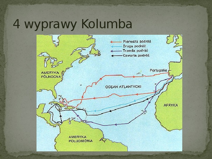 Wielkie odkrycia geograficzne na przełomie XV i XVI wieku - Slajd 6