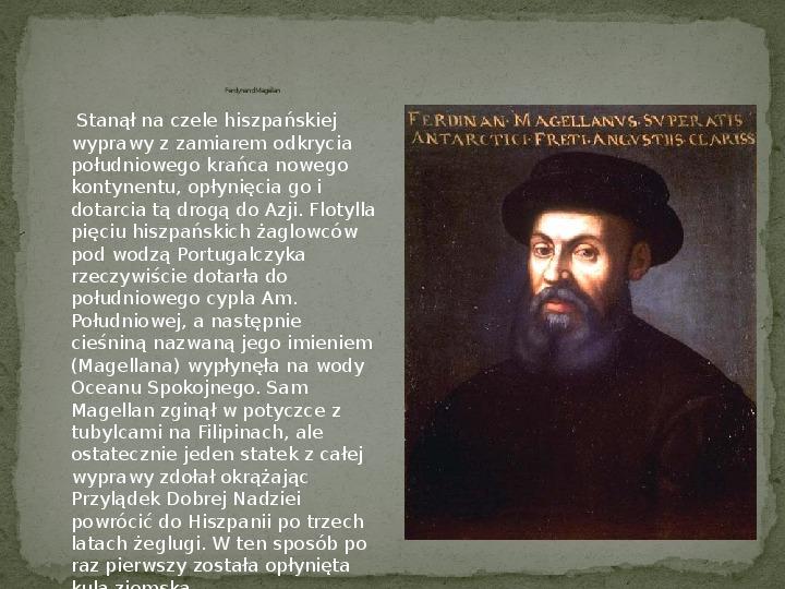 Wielkie odkrycia geograficzne na przełomie XV i XVI wieku - Slajd 10
