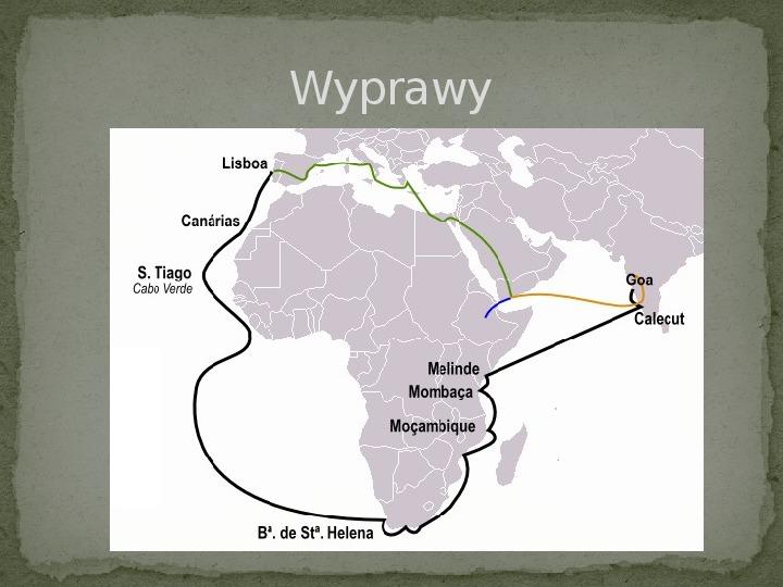 Wielkie odkrycia geograficzne na przełomie XV i XVI wieku - Slajd 13