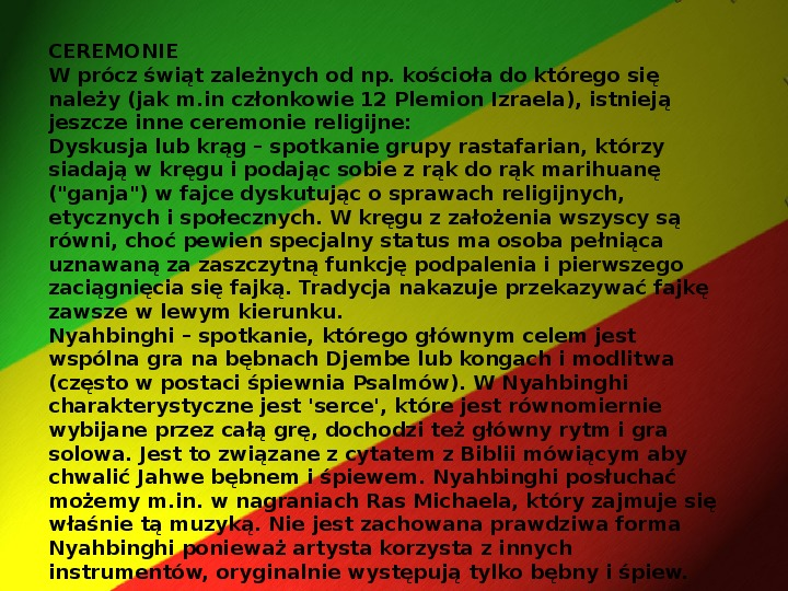 Rastafari - Slajd 10