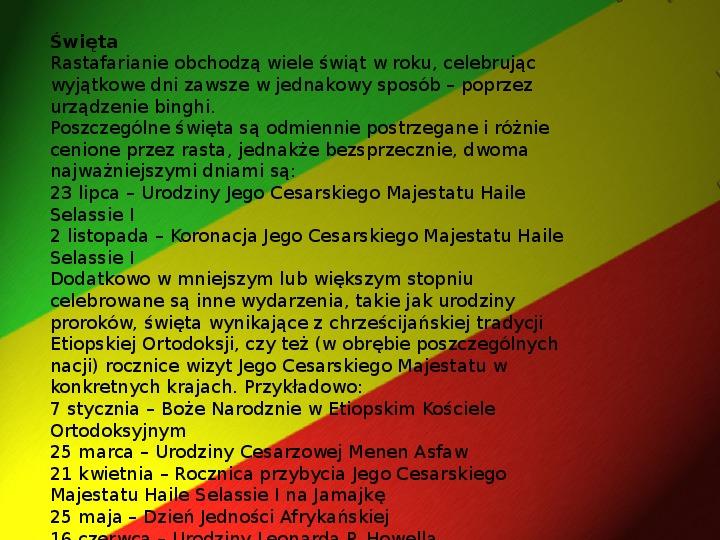 Rastafari - Slajd 20