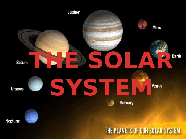 The Solar System - Slajd 1