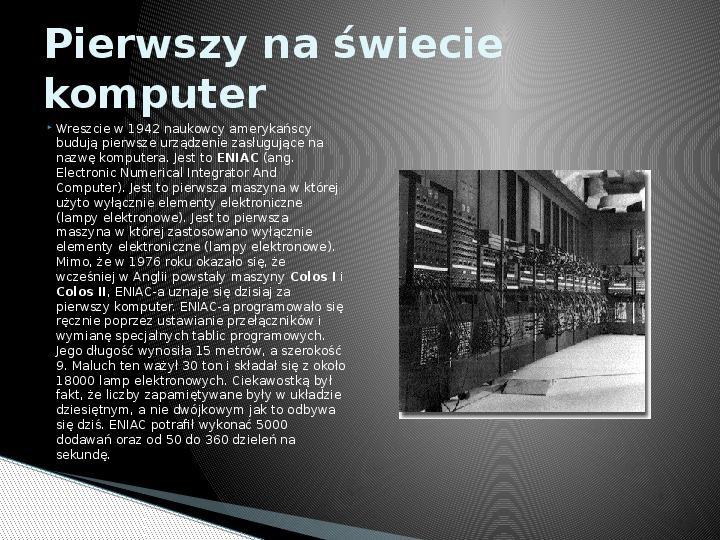 Historia informatyki - Slajd 6