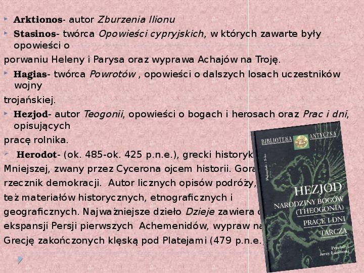 Literatura i teatr w starozytnej Grecji - Slajd 4