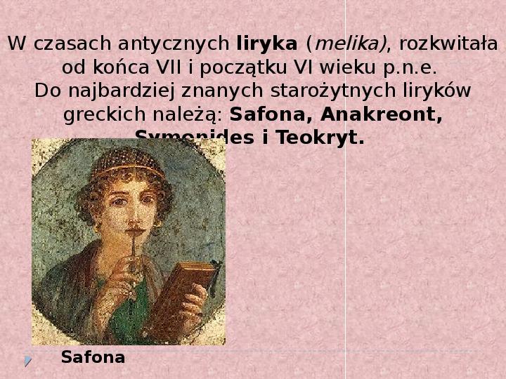 Literatura i teatr w starozytnej Grecji - Slajd 7