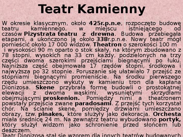 Literatura i teatr w starozytnej Grecji - Slajd 14