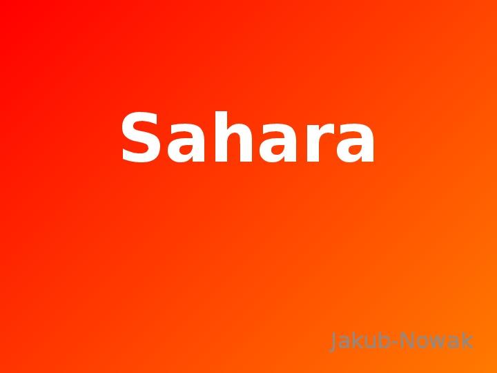 Sahara - Slajd 1