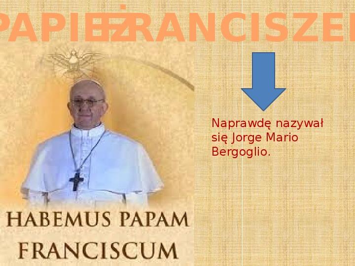 Papież Franciszek - Slajd 1