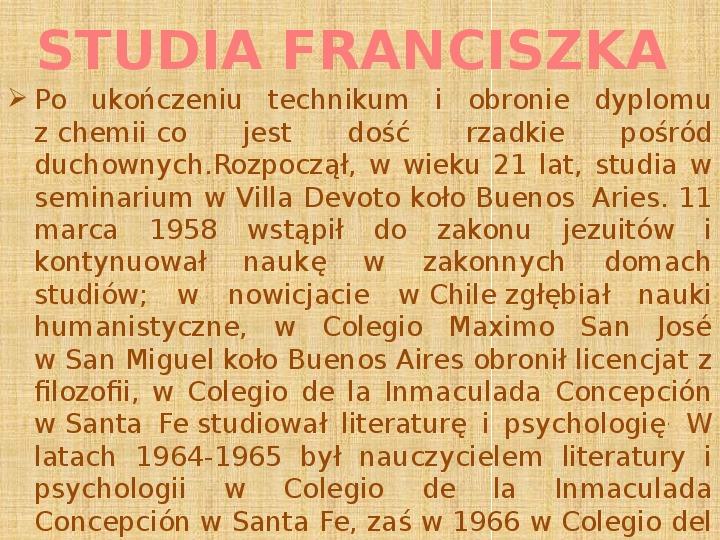 Papież Franciszek - Slajd 6