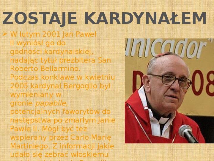 Papież Franciszek - Slajd 9