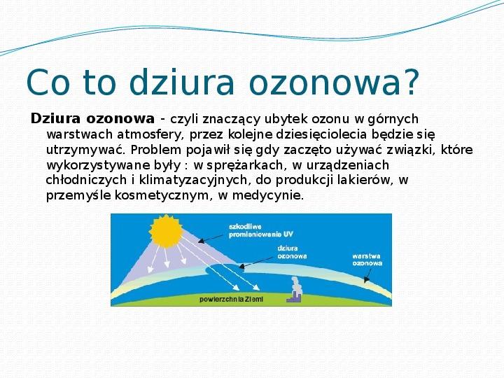 Dziura ozonowa - Slajd 1