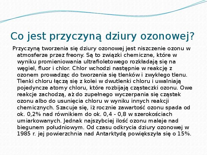Dziura ozonowa - Slajd 2