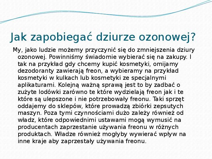Dziura ozonowa - Slajd 4