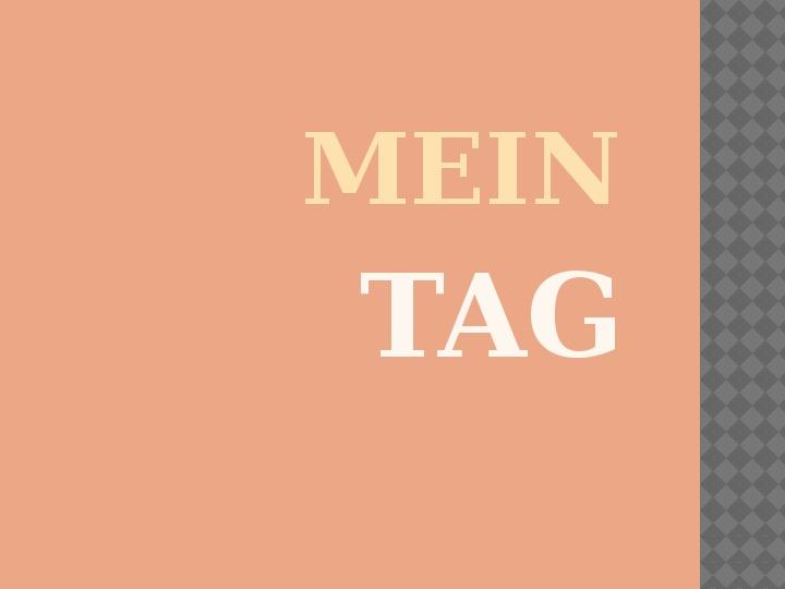 Mój dzień po niemiecku - Slajd 1