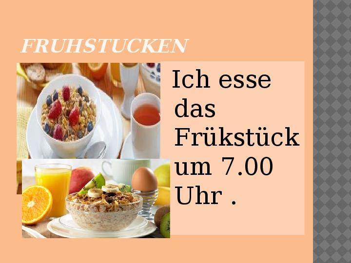 Mój dzień po niemiecku - Slajd 3