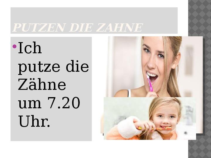 Mój dzień po niemiecku - Slajd 4
