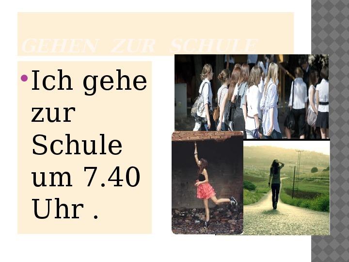 Mój dzień po niemiecku - Slajd 6