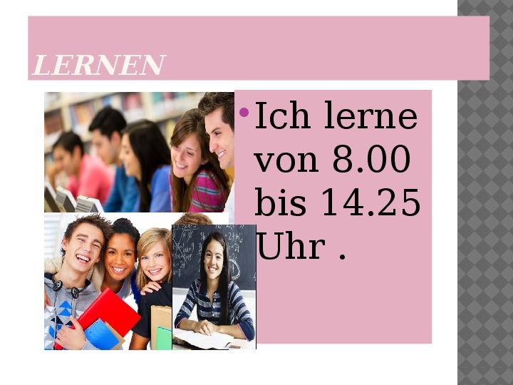 Mój dzień po niemiecku - Slajd 7