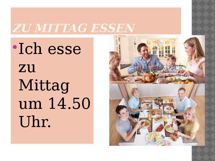 Mój dzień po niemiecku - Slajd 8