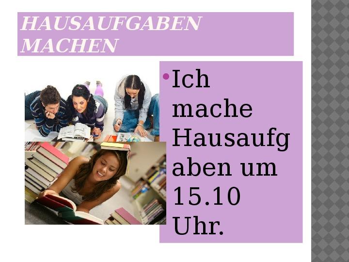 Mój dzień po niemiecku - Slajd 9