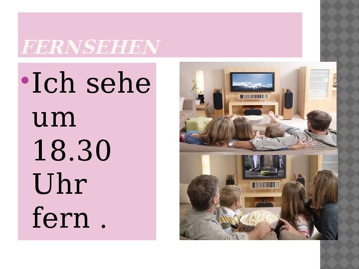 Mój dzień po niemiecku - Slajd 12