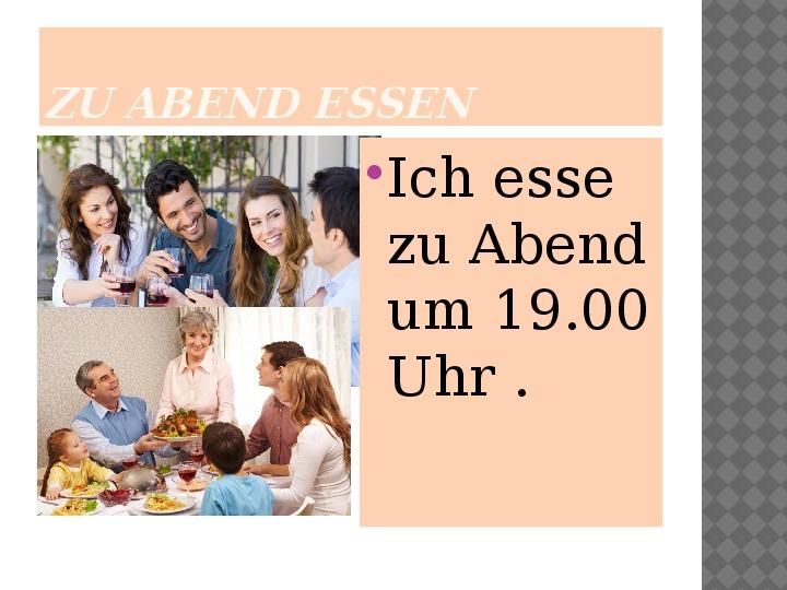 Mój dzień po niemiecku - Slajd 13
