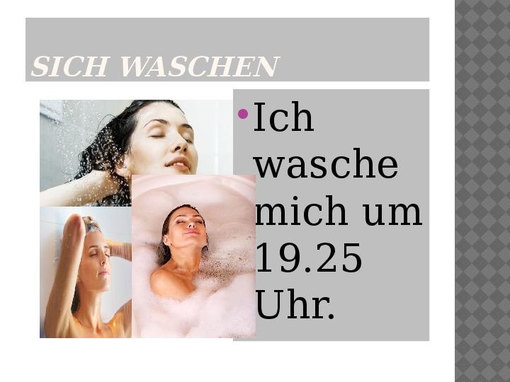Mój dzień po niemiecku - Slajd 14