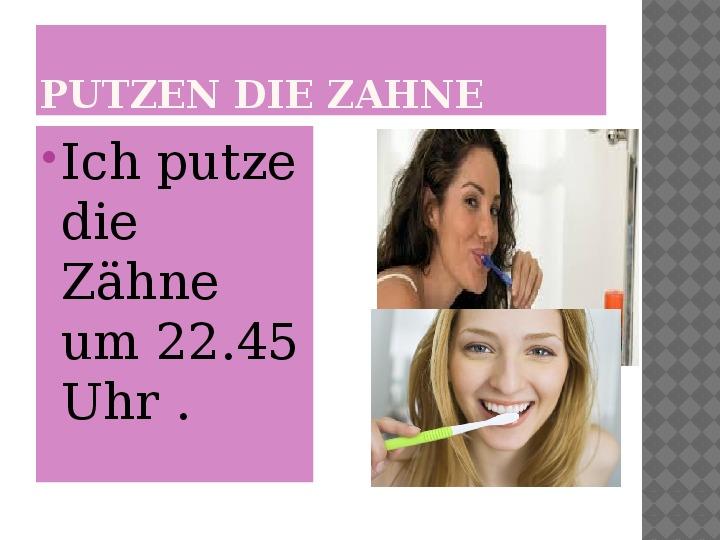 Mój dzień po niemiecku - Slajd 16