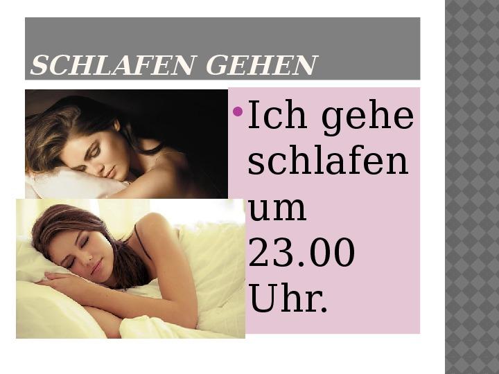 Mój dzień po niemiecku - Slajd 17