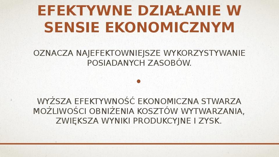 Ekonomiczne podstawy podejmowania decyzji przez producenta - Slajd 12