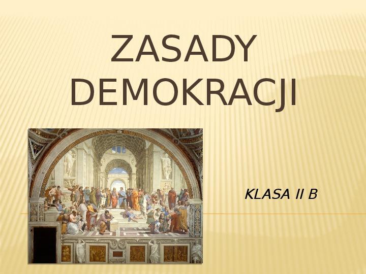 Zasady demokracji - Slajd 1