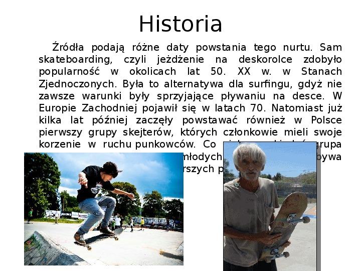 Subkultury - Skaterzy i Goci - Slajd 2