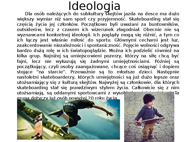 Subkultury - Skaterzy i Goci - Slajd 3