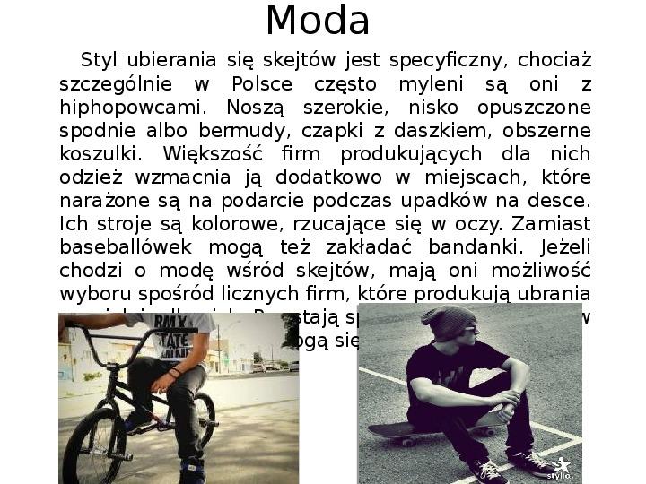 Subkultury - Skaterzy i Goci - Slajd 4