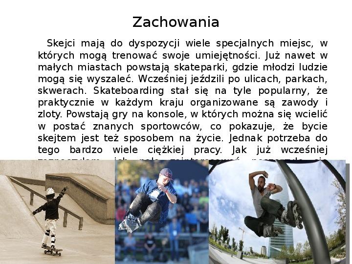 Subkultury - Skaterzy i Goci - Slajd 5