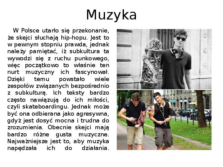 Subkultury - Skaterzy i Goci - Slajd 6