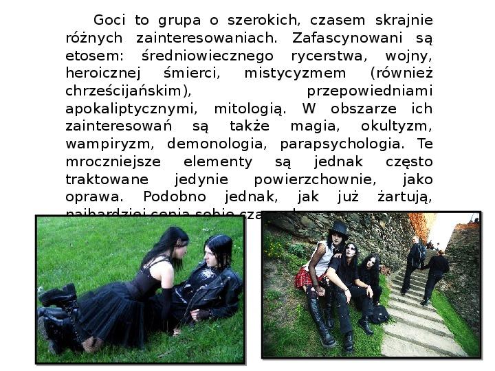 Subkultury - Skaterzy i Goci - Slajd 8