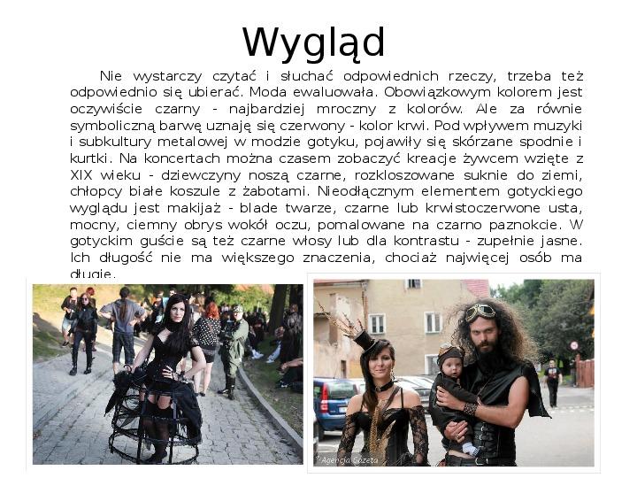 Subkultury - Skaterzy i Goci - Slajd 11