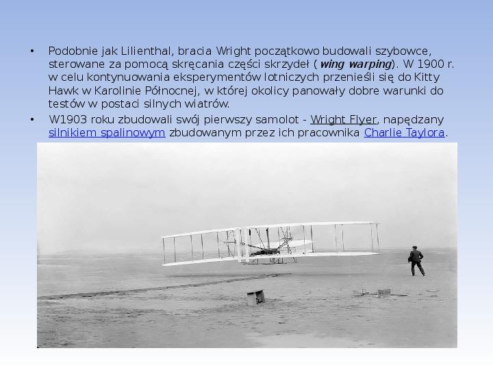 Bracia Wright Samolot - Slajd 3