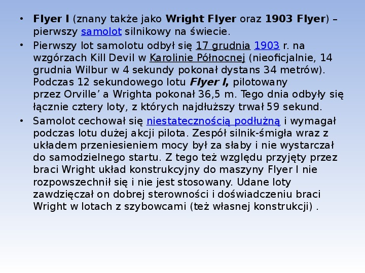 Bracia Wright Samolot - Slajd 5